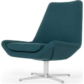 Harvey Swivel Chair, Mineral Blue (94 x 82cm)