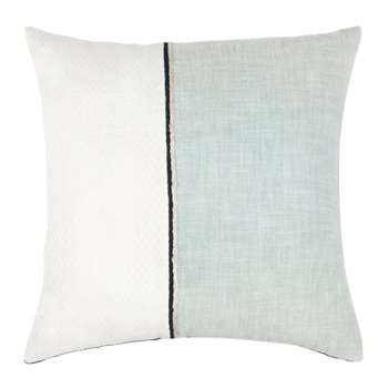 HASSELT - Black, Blue and Gold Cotton Cushion Cover (H40 x W40cm)
