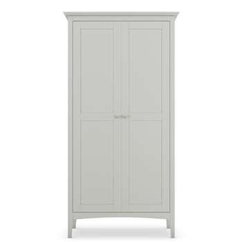 Hastings Grey Full Length Wardrobe (H188 x W96 x D54cm)