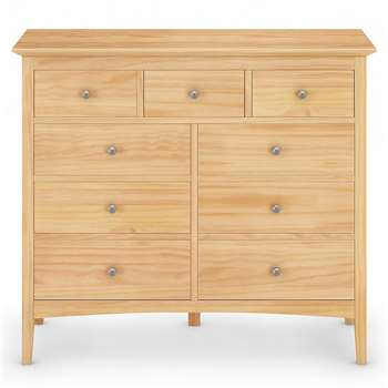 Hastings Light Natural 6+3 Drawer Chest, Natural (H109 x W124 x D49cm)