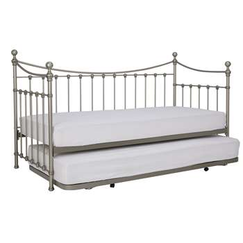 Hastings Pewter Day Bed 119 x 200cm