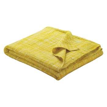 Havill Yellow Textured Throw (150 x 170cm)