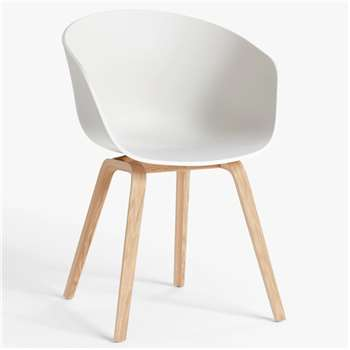 HAY About A Chair AAC22 Dining Chair, Cream White (H79 x W59 x D52cm)