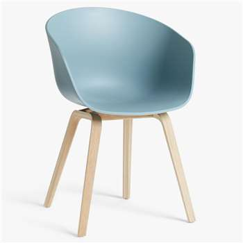 HAY About A Chair AAC22 Dining Chair, Dusty Blue (H79 x W59 x D52cm)