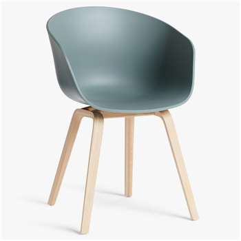 HAY About A Chair AAC22 Dining Chair, Dusty Green (H79 x W59 x D52cm)
