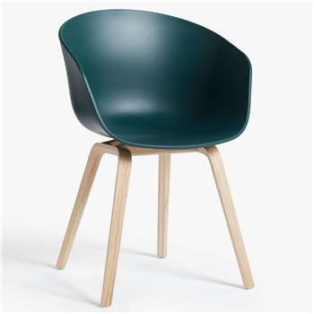 HAY About A Chair AAC22 Dining Chair, Hunter Green (H79 x W59 x D52cm)