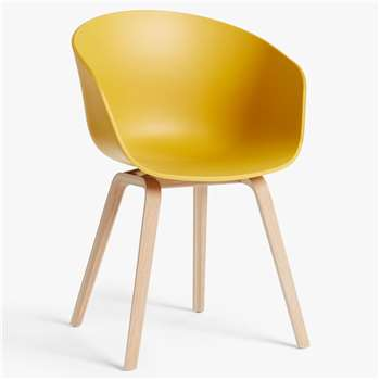 HAY About A Chair AAC22 Dining Chair, Mustard (H79 x W59 x D52cm)