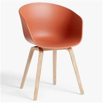 HAY About A Chair AAC22 Dining Chair, Orange (H79 x W59 x D52cm)