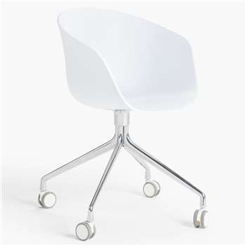 HAY About A Chair AAC24 Office Chair, White (H79 x W59 x D52cm)