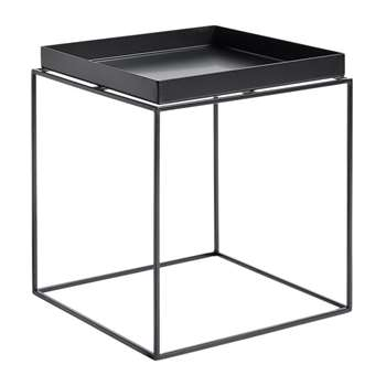 HAY - Black Tray Table - Medium (H44 x W40 x D40cm)