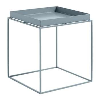 HAY - Blue Tray Table - Medium (H44 x W40 x D40cm)