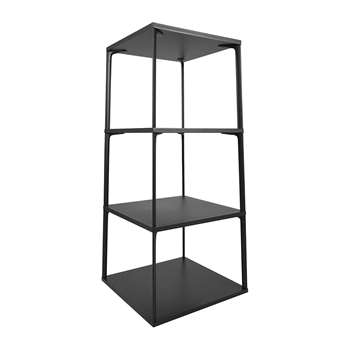 HAY - Eiffel 4 Layer Square Shelf - Ink Black (H110 x W50 x D50cm)