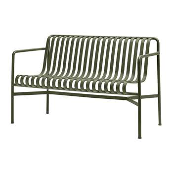 HAY - Palissade Dining Bench - Olive (H80 x W128 x D70cm)