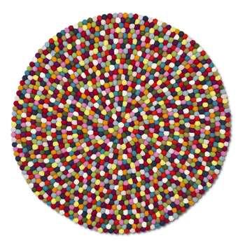 HAY - Pinocchio Round Rug - Multicolour - 90cm