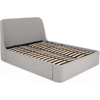 Hayllar Double Bed with Ottoman Storage, Grey (H110 x W151 x D214cm)