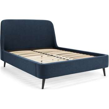 Hayllar Super King Size Bed, Blue (H121 x W196 x D224cm)