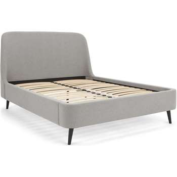 Hayllar Super King Size Bed, Cool Grey (H121 x W196 x D224cm)