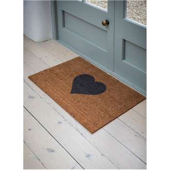 Heart Doormat, Large - Coir (60 x 90cm)