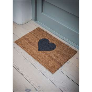 Heart Doormat, Small - Coir (40 x 65cm)