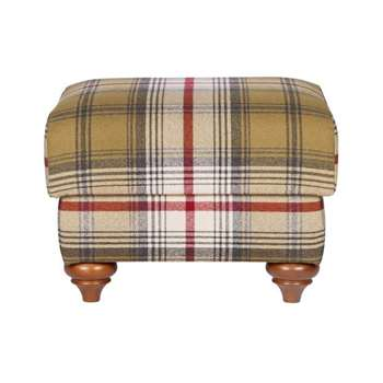 Heart of House Argyll Footstool - Autumn Tartan