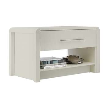 Heart of House - Elford 1 Drawer - Coffee Table - Grey (H53 x W90 x D52cm)