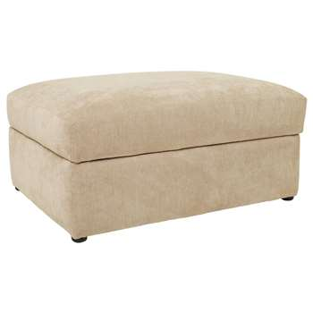 Heart of House Eton Fabric Storage Footstool - Mink