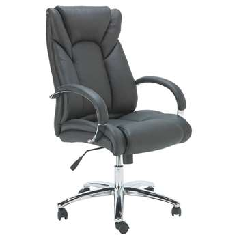 Heart of House Leather Faced Office Chair (118 x 57cm)