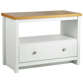 Heart of House Westbury 1 Drw 1 Shelf Coffee Table - White (Width 90cm)