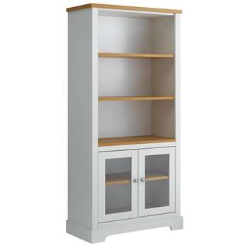 Heart of House Westbury Glazed Bookcase - White (187.5 x 90.4cm)