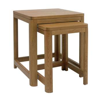 Heart of House Weymouth Nest of 2 Solid Wood Tables (Width 50cm)