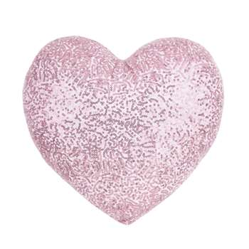 Heart Shaped Sequin Cushion (35 x 35cm)
