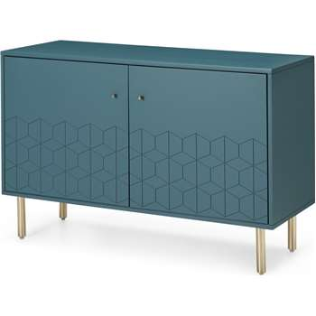 Hedra Sideboard, Brass and Teal (H75 x W112 x D45cm)