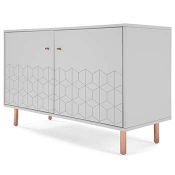 Hedra Sideboard, Copper and Grey (H75 x W112 x D45cm)