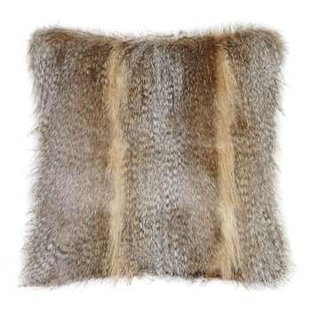 Helen Moore - Faux Fur Siberian Wolf Cushion (H40 x W40cm)
