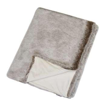 Helen Moore - Faux Fur Throw - Latte (H180 x W145cm)