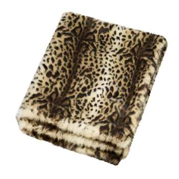 Helen Moore - Faux Fur Throw - Ocelot (H145 x W180cm)