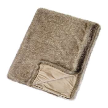 Helen Moore - Faux Fur Throw - Signature Truffle (H180 x W145cm)