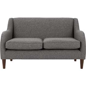 Helena 2 Seater Sofa, Textured Weave Smoke Grey (81 x 144cm)