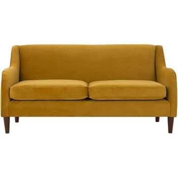 Helena 3 Seater Sofa,  Plush Tumeric Velvet (81 x 172cm)