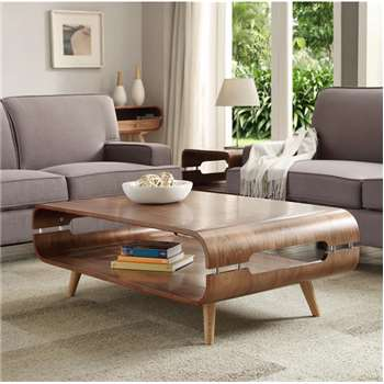 Helsingborg Walnut Open Coffee Table (41.5 x 108cm)