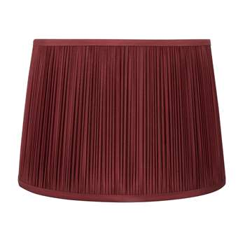 Hemsley Dark Cranberry Pleated 12 Inch Shade