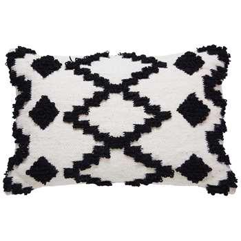 HENATO black and white wool cushion (40 x 60cm)