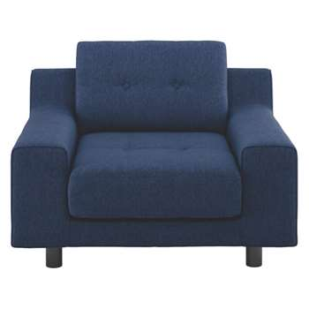 Hendricks Dark blue fabric armchair