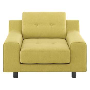 Hendricks Saffron yellow fabric armchair