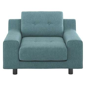 Hendricks Teal blue fabric armchair