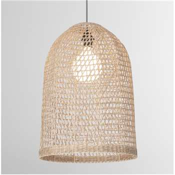Henna Woven Extra Large Lamp Shade, Natural Seagrass (H55 x W40 x D40cm)