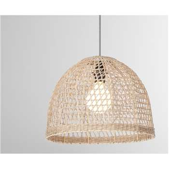 Henna Woven Lamp Shade, Natural Seagrass (H30 x W40 x D40cm)