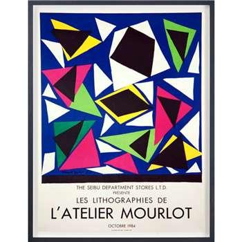 Henri Matisse - Les Lithographies de L'Atelier Mourlot Framed Original Print (H75 x W60cm)
