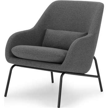 Henrik Accent Chair, Marl Grey and Black (H86 x W77 x D87cm)