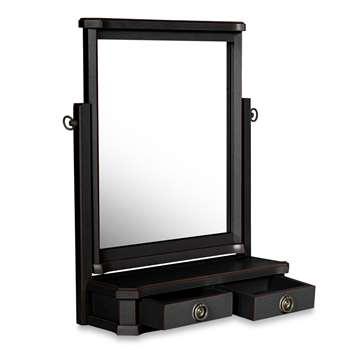 Henshaw Black Dressing Table Mirror (H60 x W54 x D12cm)